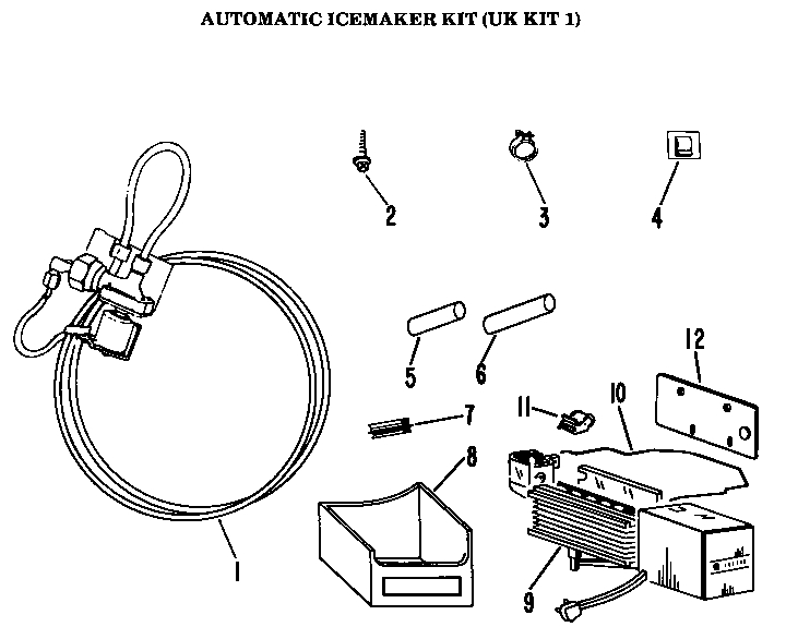 Ge Icemaker Parts | Model Ukkit1 | Sears Partsdirect for Ge Ice Maker Parts Diagram