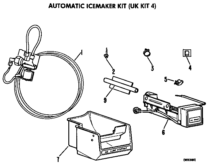 Ge Icemaker Parts | Model Ukkit4 | Sears Partsdirect with Ge Ice Maker Parts Diagram