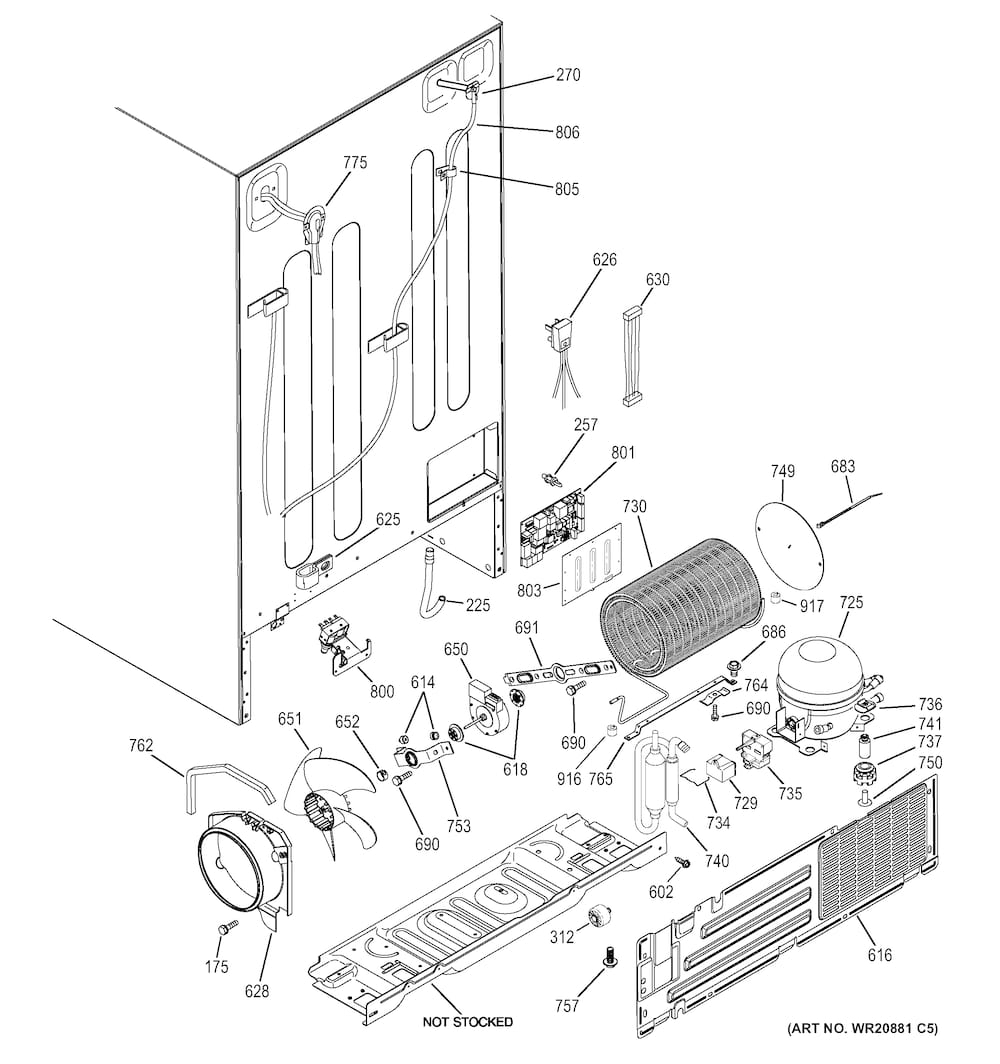 Ge Refrigerator Parts | Model Gse25Gghbcbb | Sears Partsdirect pertaining to Ge Refrigerator Ice Maker Parts Diagram
