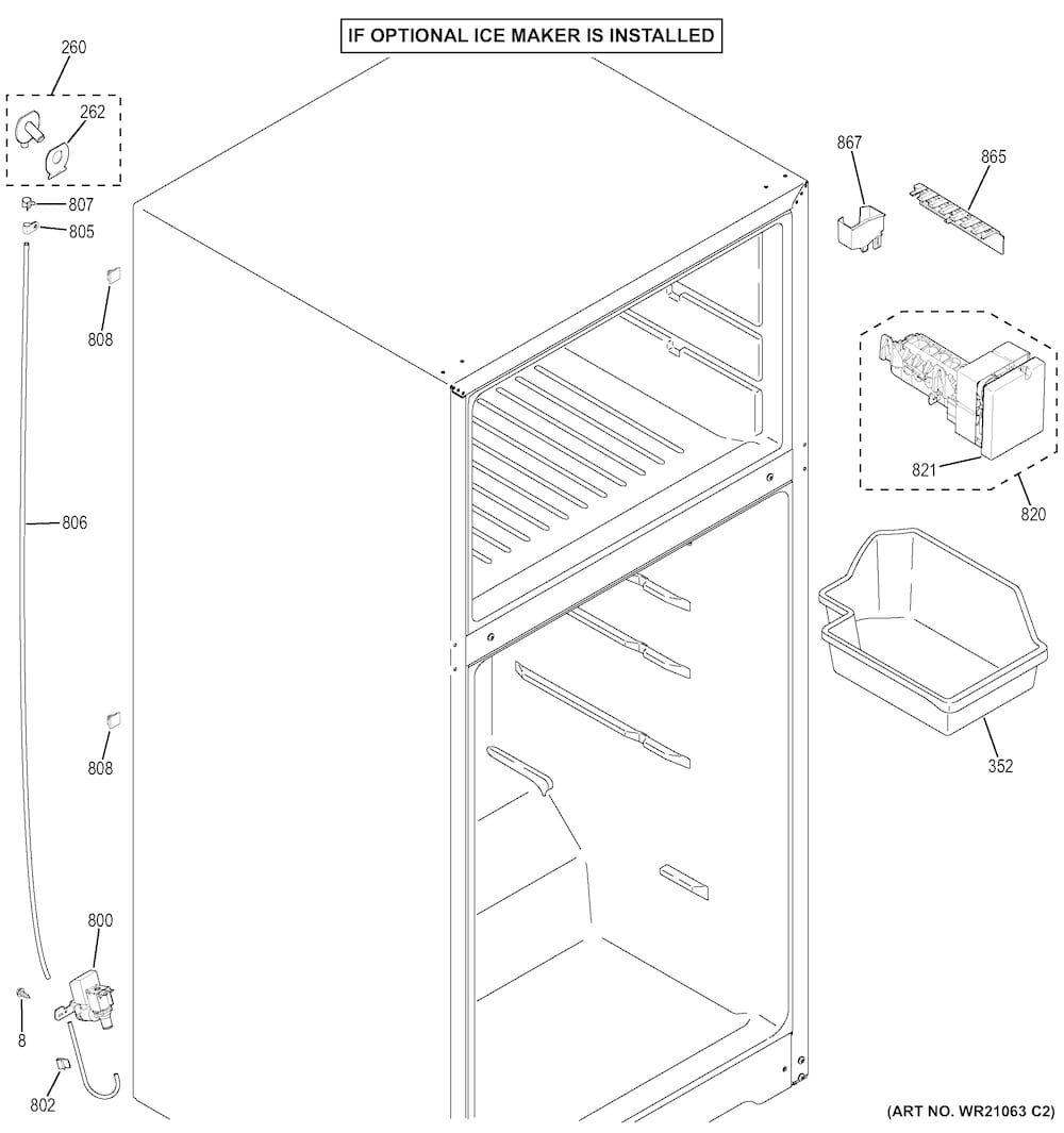 Ge Refrigerator Parts | Model Gts18Gthbrww | Sears Partsdirect inside Ge Refrigerator Ice Maker Parts Diagram
