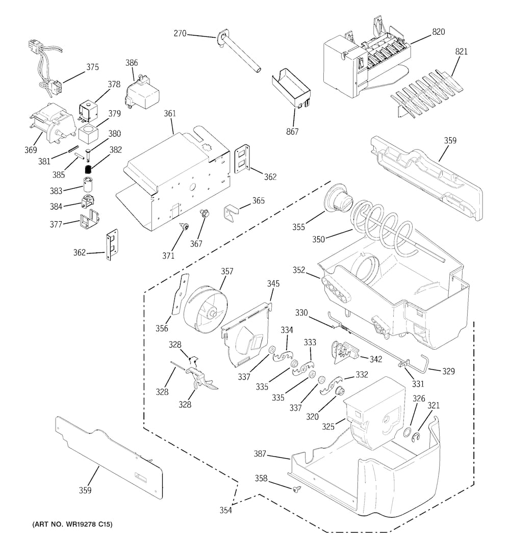 Ge Refrigerator W Series Parts | Model Css25Uswass | Sears Partsdirect for Ge Monogram Ice Maker Parts Diagram
