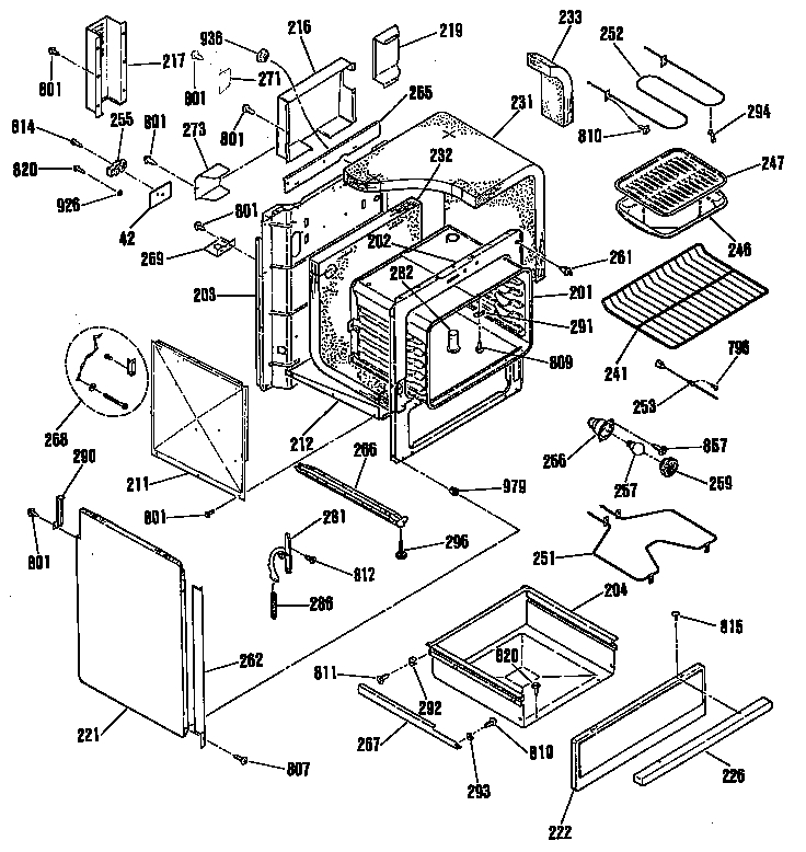ge electric range parts diagram