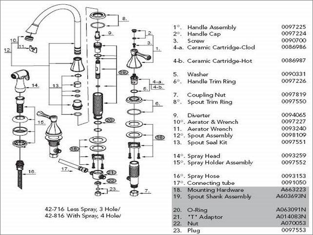 Glacier Bay Kitchen Faucet Parts Kitchen Faucets Glacier Bay pertaining to Glacier Bay Faucet Parts Diagram