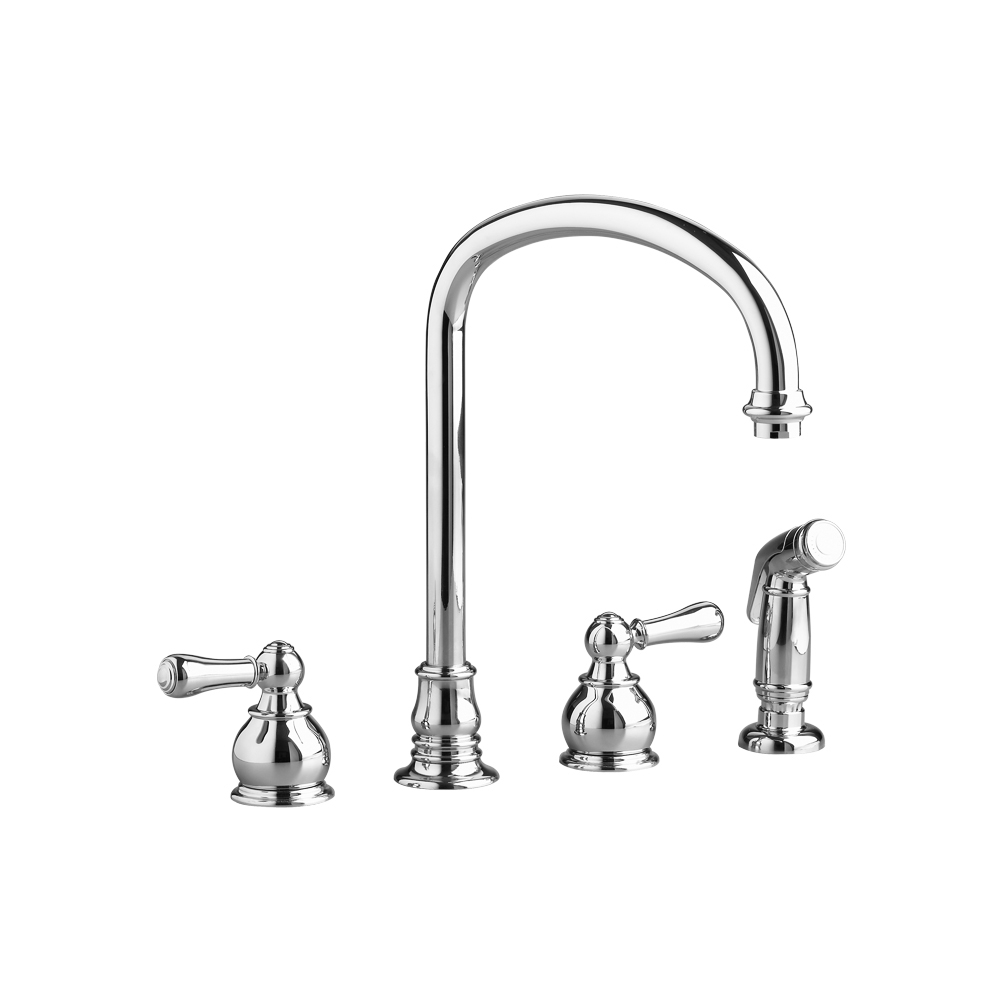 Hampton 2-Handle High-Arc Kitchen Faucet With Separate Side Spray pertaining to American Standard Shower Faucet Parts Diagram