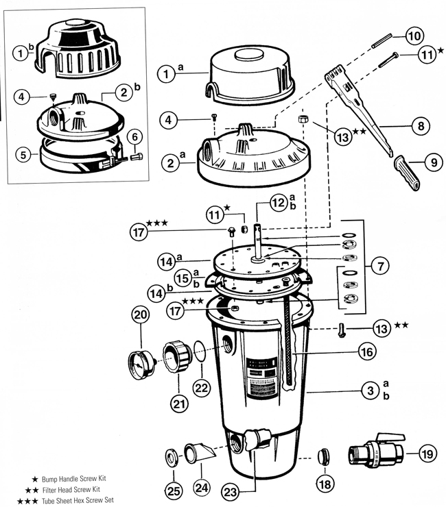 Hayward Perflex Ec50, Ec50Ac Filter Parts Diagram intended for Hayward De Filter Parts Diagram