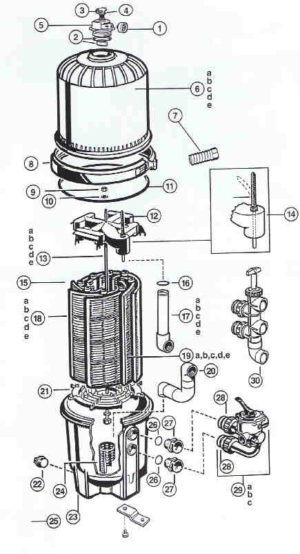 Hayward Pro Grid De Filter Parts with regard to Hayward De Filter Parts Diagram