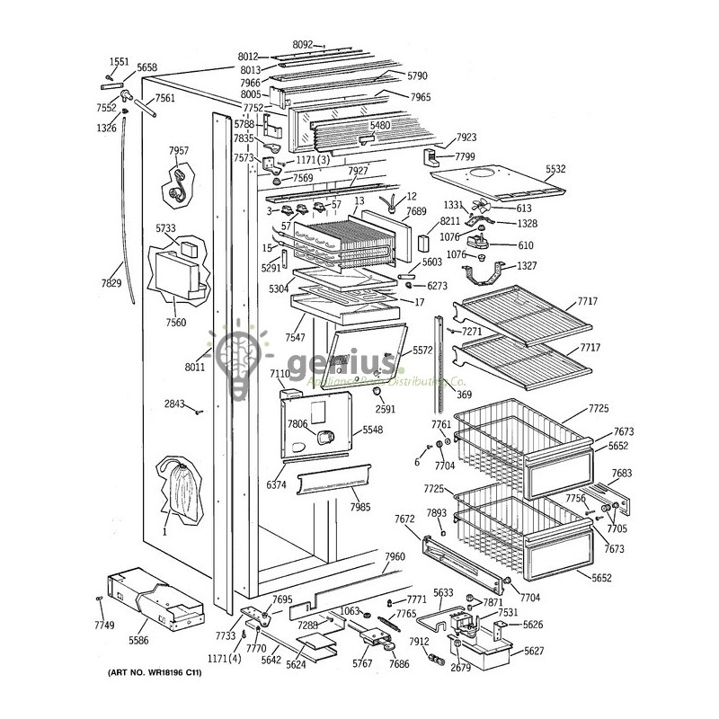 Haier Refrigerator Parts Diagram Com
