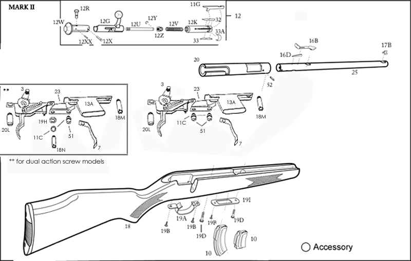 Help Finding A Replacement Bolt Assembly For A Savage Mk Ii : Guns inside Savage Mark Ii Parts Diagram