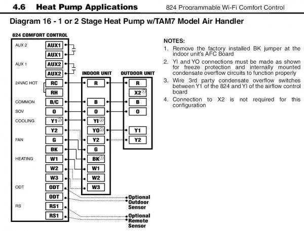 Help With Wiring An Aprilaire 700M To A Trane Xr90 And Venstar with Trane Heat Pump Parts Diagram
