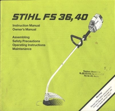 Home And Garden Tools with regard to Stihl Fs 36 Parts Diagram