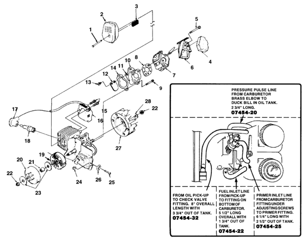 Homelite Super 2 Chain Saw Ut-10697-E Parts And Accessories inside Homelite Super 2 Parts Diagram