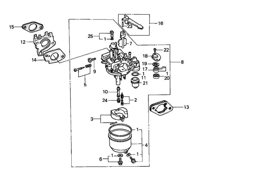 Honda Gx340 Parts , Quality Aftermarket Parts For Honda Gx Engines inside Honda Gx160 Carburetor Parts Diagram