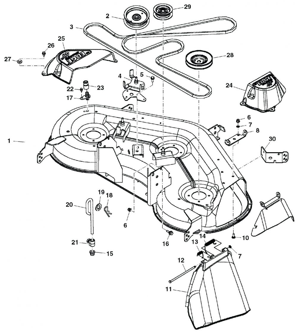 Honda Hra214 Lawn Mower Deck Drive Belt For 42 In 600 Series Lawn in John Deere Garden Tractor Parts Diagram
