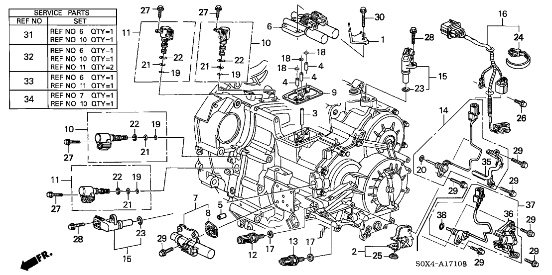 Honda Odyssey 5 Door Ex Ka 5At At Sensor - Solenoid regarding 2003 Honda Odyssey Parts Diagram