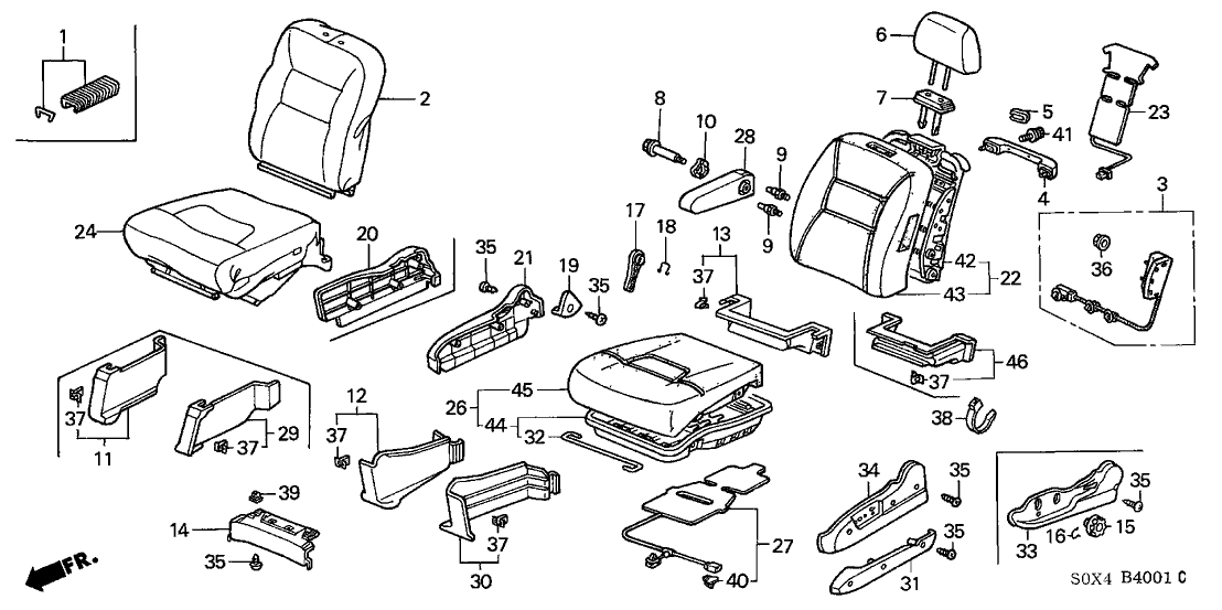 2003 honda odyssey engine mount diagram