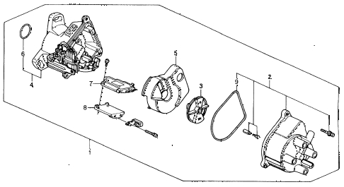 Honda Online Store : 1993 Accord Distributor ('92-'93) (Tec) Parts in 1993 Honda Accord Parts Diagram