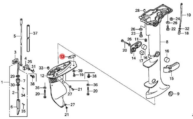Honda outboard motor parts diagram automotive
