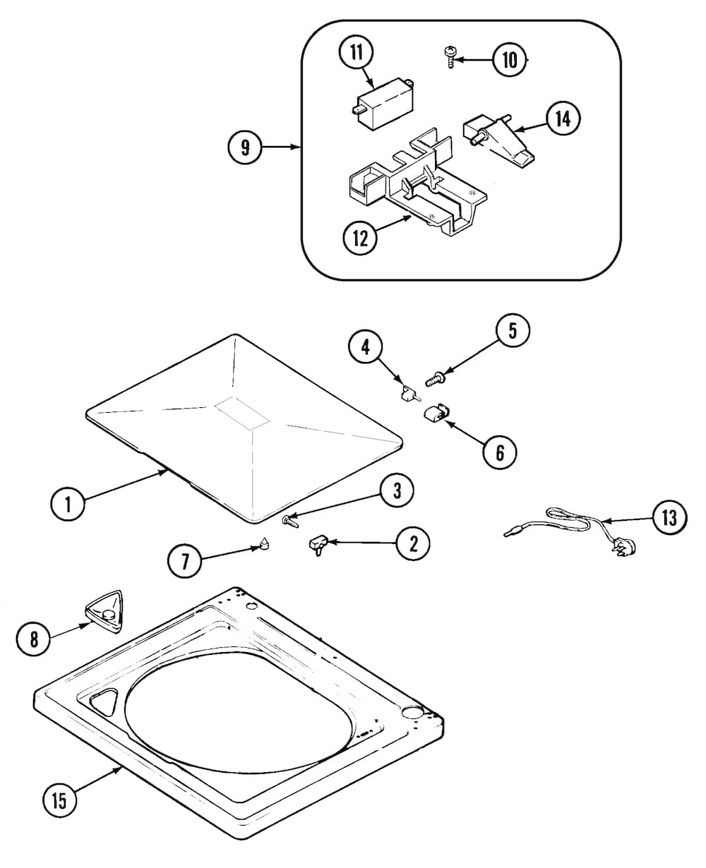 Hoover Hoover Laundry Parts | Model Hav2360Aww | Sears Partsdirect in Kenmore 80 Series Washer Parts Diagram