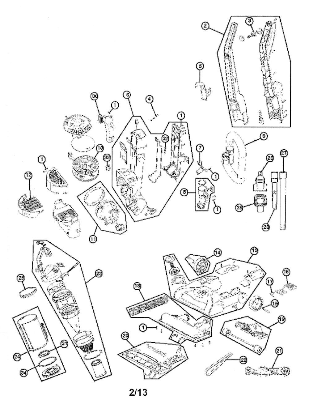 Hoover Vacuum Parts | Model Uh70120 | Sears Partsdirect throughout Hoover Windtunnel T Series Parts Diagram