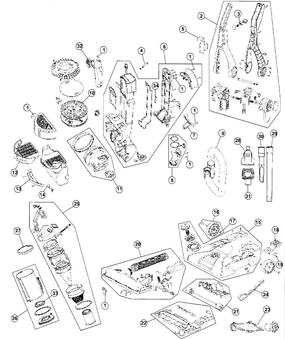 Hoover Vacuum Parts | Model Uh70210 | Sears Partsdirect pertaining to Hoover Windtunnel T Series Parts Diagram