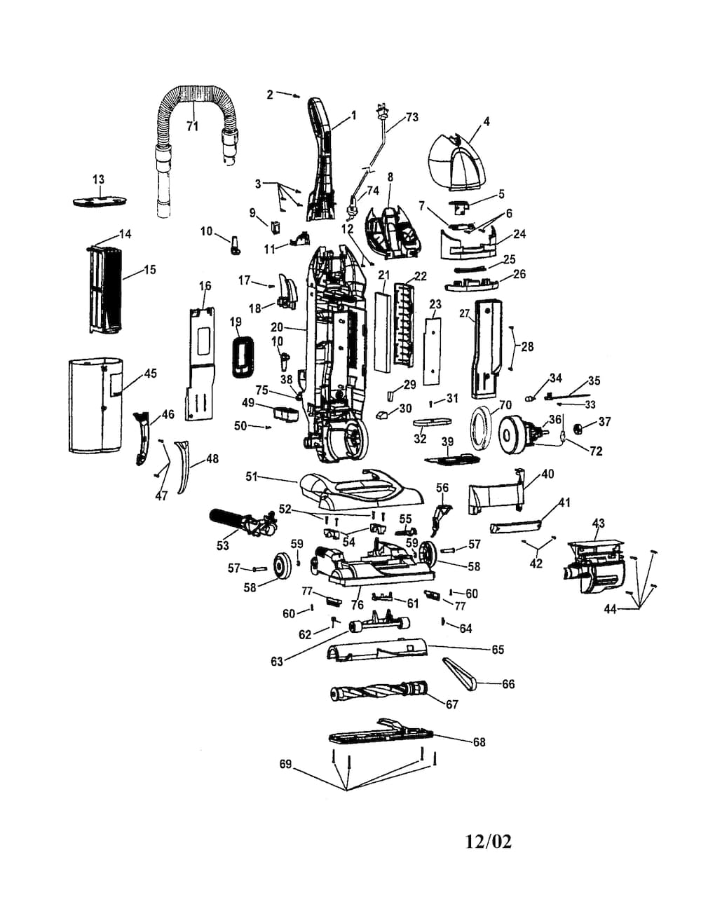 Hoover Windtunnel Bagless Parts | Model U5721900 | Sears Partsdirect throughout Hoover Windtunnel T Series Parts Diagram