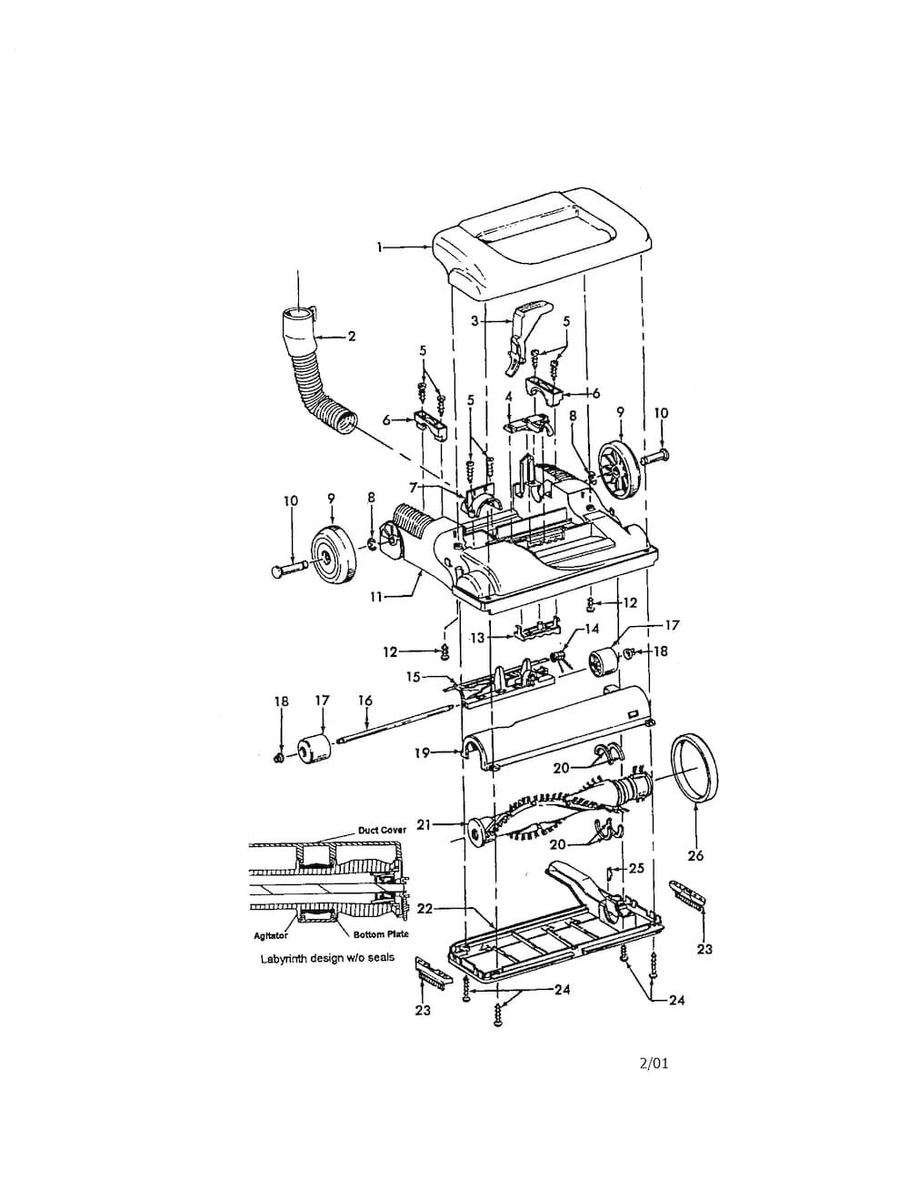 Hoover Windtunnel Upright Parts | Model U5450900 | Sears Partsdirect inside Hoover Windtunnel T Series Parts Diagram