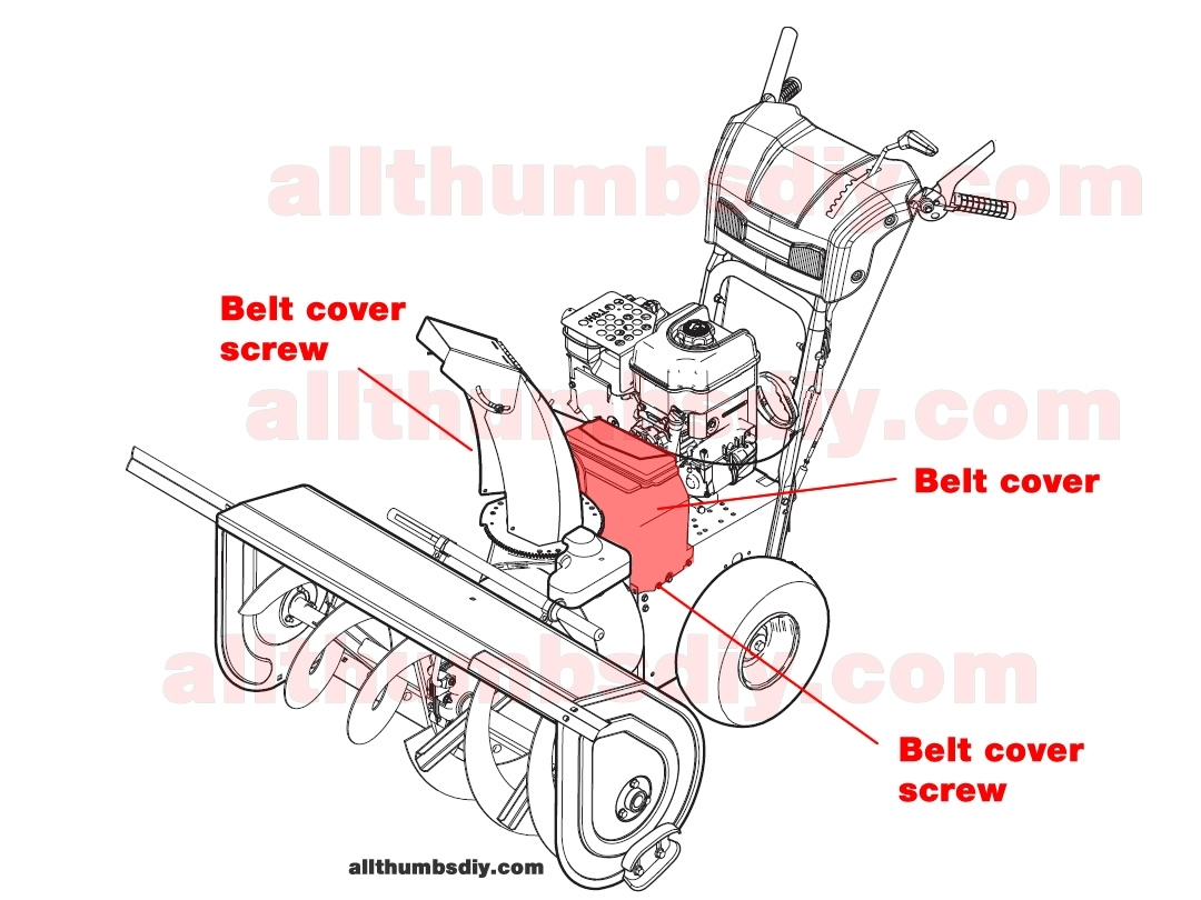 How To Change The Auger Belt For John Deere 1330Se Snow Blower throughout John Deere 826 Snowblower Parts Diagram