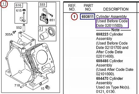 How To Find Engine Replacement Part Numbers | Briggs & Stratton intended for Briggs Stratton Engine Parts Diagram