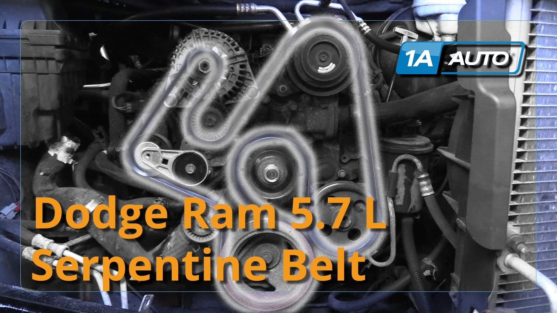 How To Install Replace Serpentine Belt 2008 Dodge Ram 5.7L Hemi with regard to 2004 Dodge Ram 1500 Parts Diagram