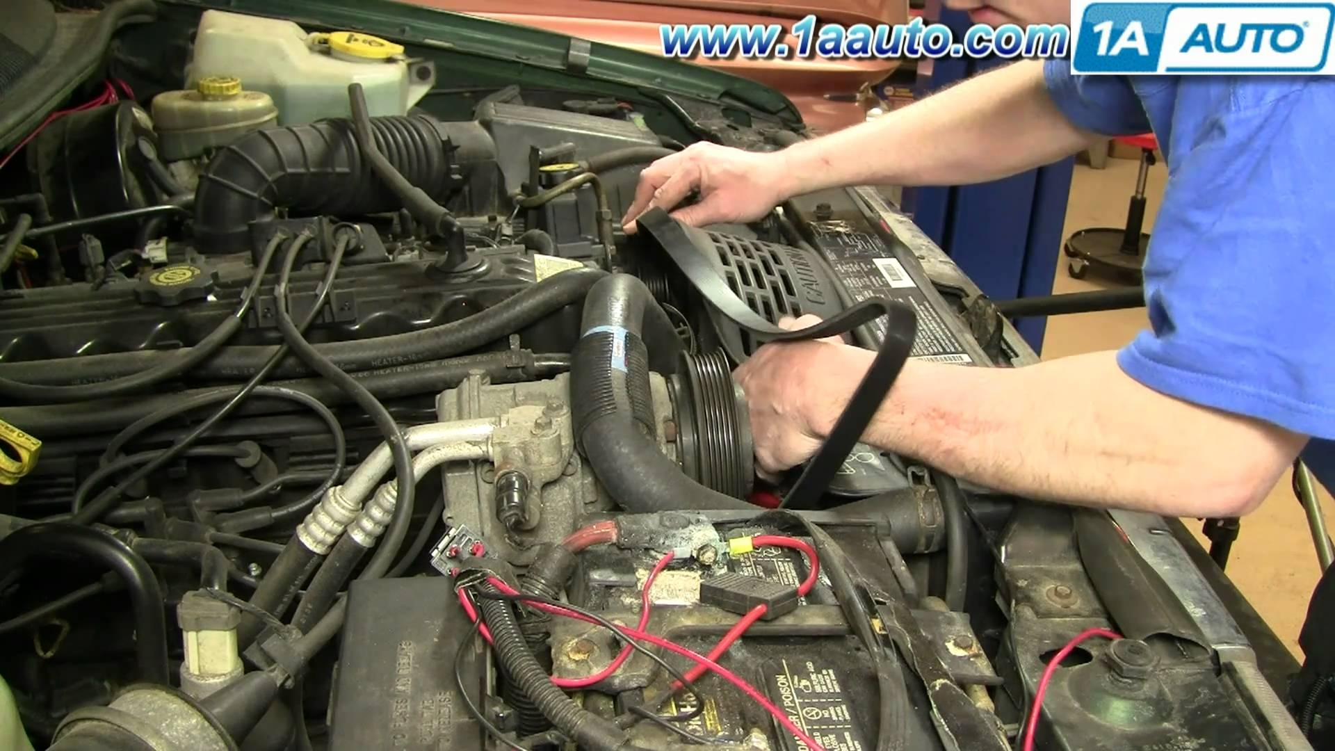 How To Install Replace Serpentine Belt Jeep Grand Cherokee Pertaining To Jeep Grand Cherokee Parts Diagram