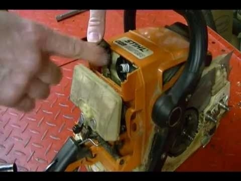 How To Replace The Bar & Chain Oil Pump Worm Gear On A Stihl Ms for Stihl 029 Parts List Diagram