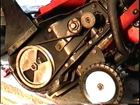 How To Replace The Belt On Your Single Stage 2 Cycle Snowthrower within Toro Ccr 2000 Parts Diagram