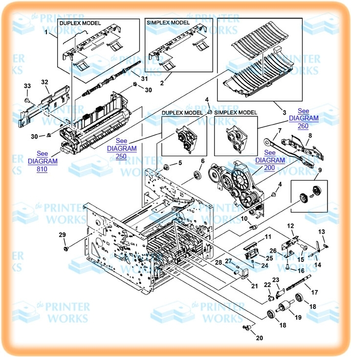 Hp-Laserjet-P2014_2015, Internal Components (1 Of 4), The Printer inside Hp Officejet 4500 Parts Diagram