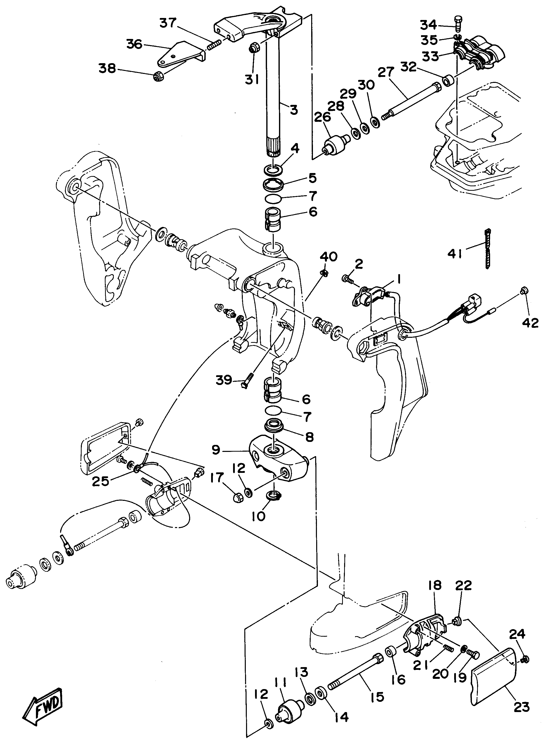 25 hp johnson outboard parts diagram automotive parts. Black Bedroom Furniture Sets. Home Design Ideas