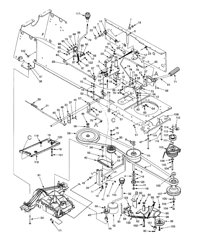 Huskee 21 Hp 7 Speed Model 14Aj848H131 - Lawn Mower Forums with regard to Huskee Lawn Tractor Parts Diagram
