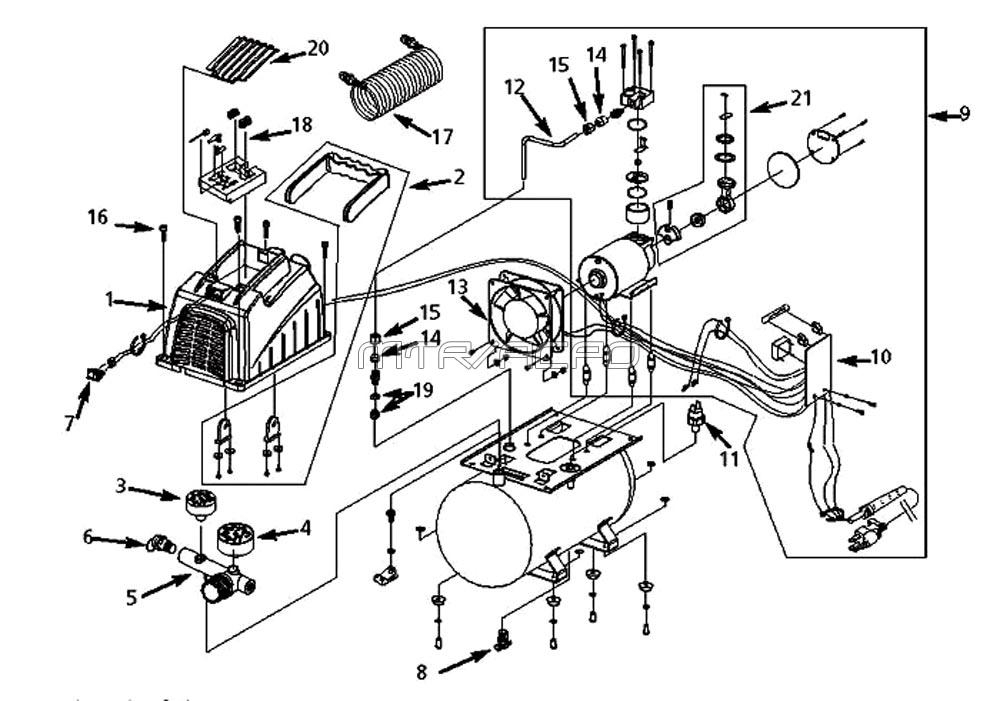 Husky Air Compressor Parts inside Husky Air Compressor Parts Diagram