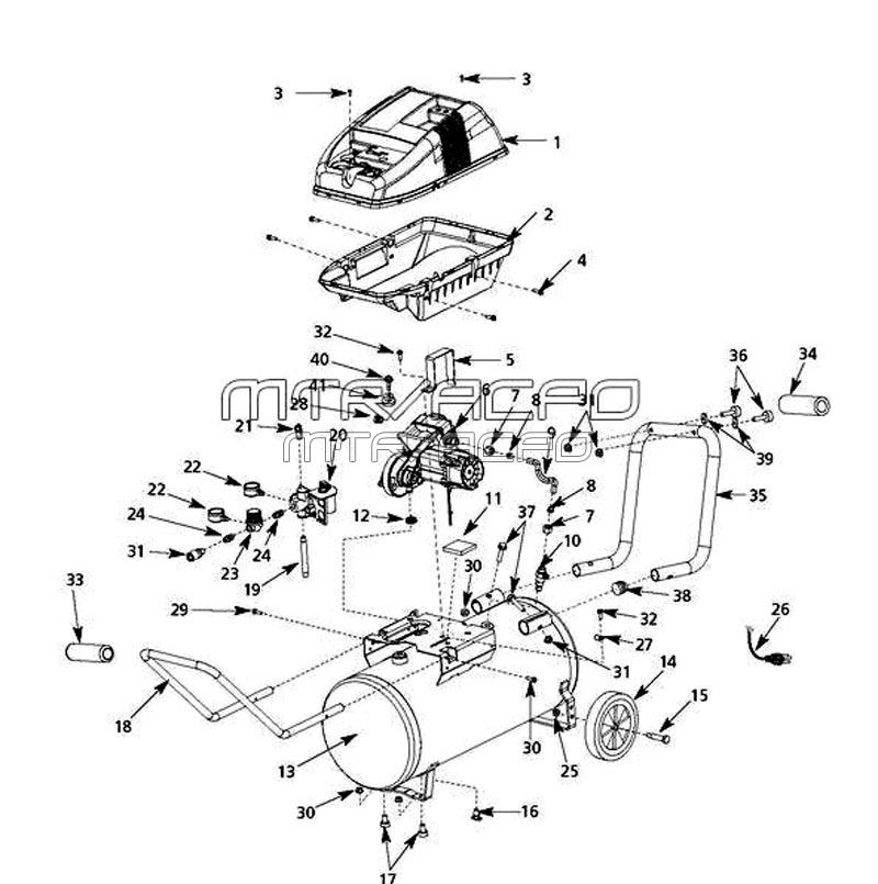 Husky Parts Wl650702Aj, Wl650703Aj, Wl651004Aj, Wl650700Aj throughout Husky Air Compressor Parts Diagram