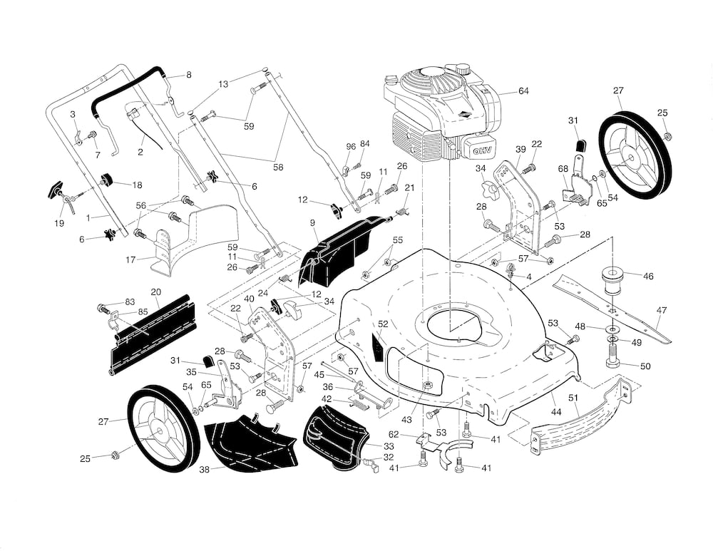 Husqvarna Lawn Mower Parts | Model Hu550Fh96143009604 | Sears intended for Husqvarna Lawn Mower Parts Diagram