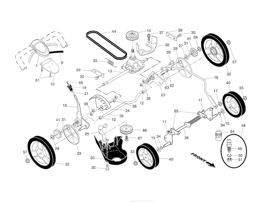 Husqvarna Lawn Mower Parts | Model Hu700H96145002302 | Sears with Husqvarna Lawn Mower Parts Diagram
