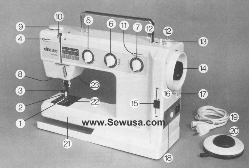 I Just Bought An Elna - Sewing In General with Elna Sewing Machine Parts Diagram