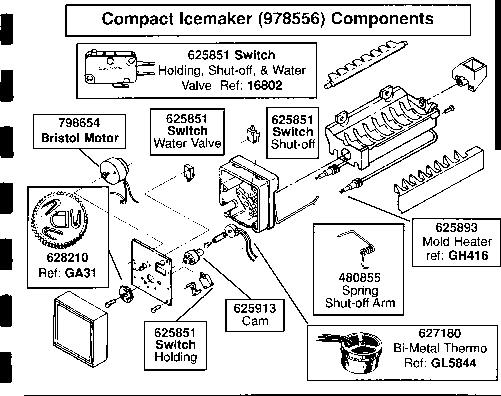 Icemaker Repair Help | Appliance Aid in Kitchenaid Ice Maker Parts Diagram
