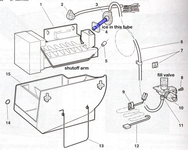 Icemaker Repair Help | Appliance Aid within Kenmore Ice Maker Parts Diagram
