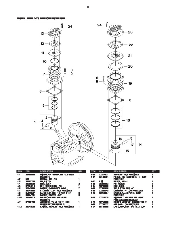 Ingersoll Rand 2475 Air Compressor Parts List pertaining to Ingersoll Rand Compressor Parts Diagram