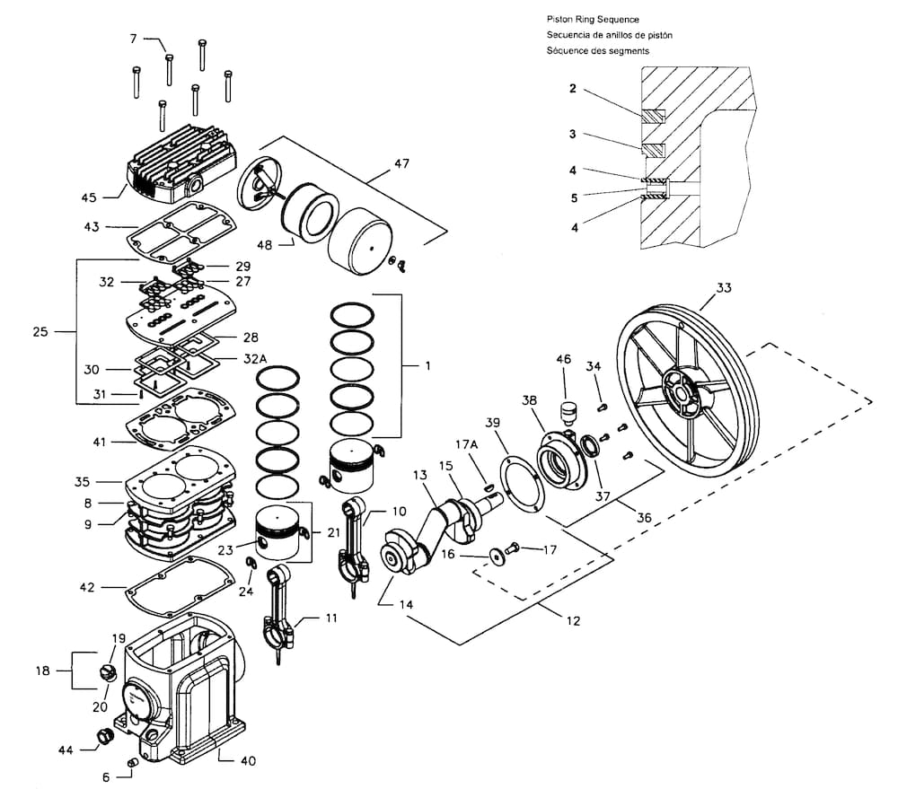 Ingersollrnd Air Compressor Parts | Model Ss5L5 | Sears Partsdirect in Ingersoll Rand Air Compressor Parts Diagram