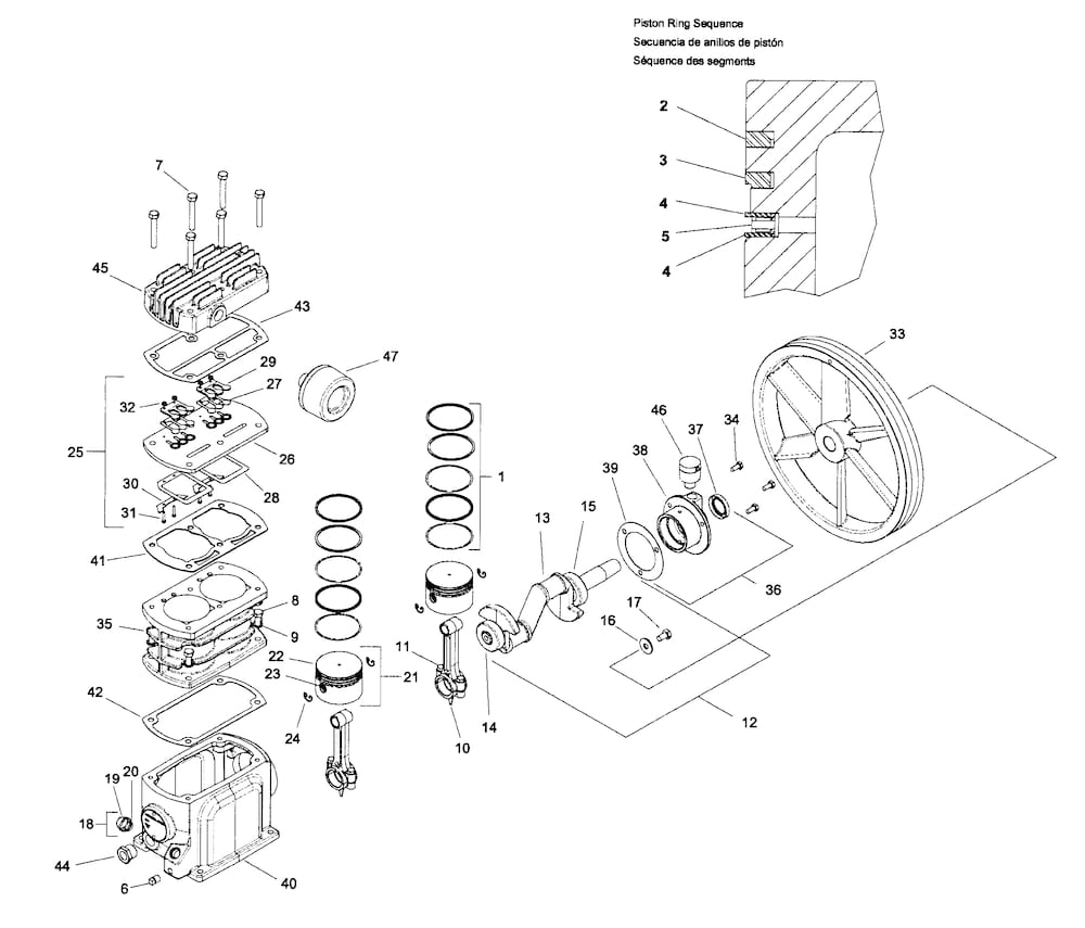 Ingersollrnd Compressor Parts | Model Ss3L3 | Sears Partsdirect within Ingersoll Rand Air Compressor Parts Diagram