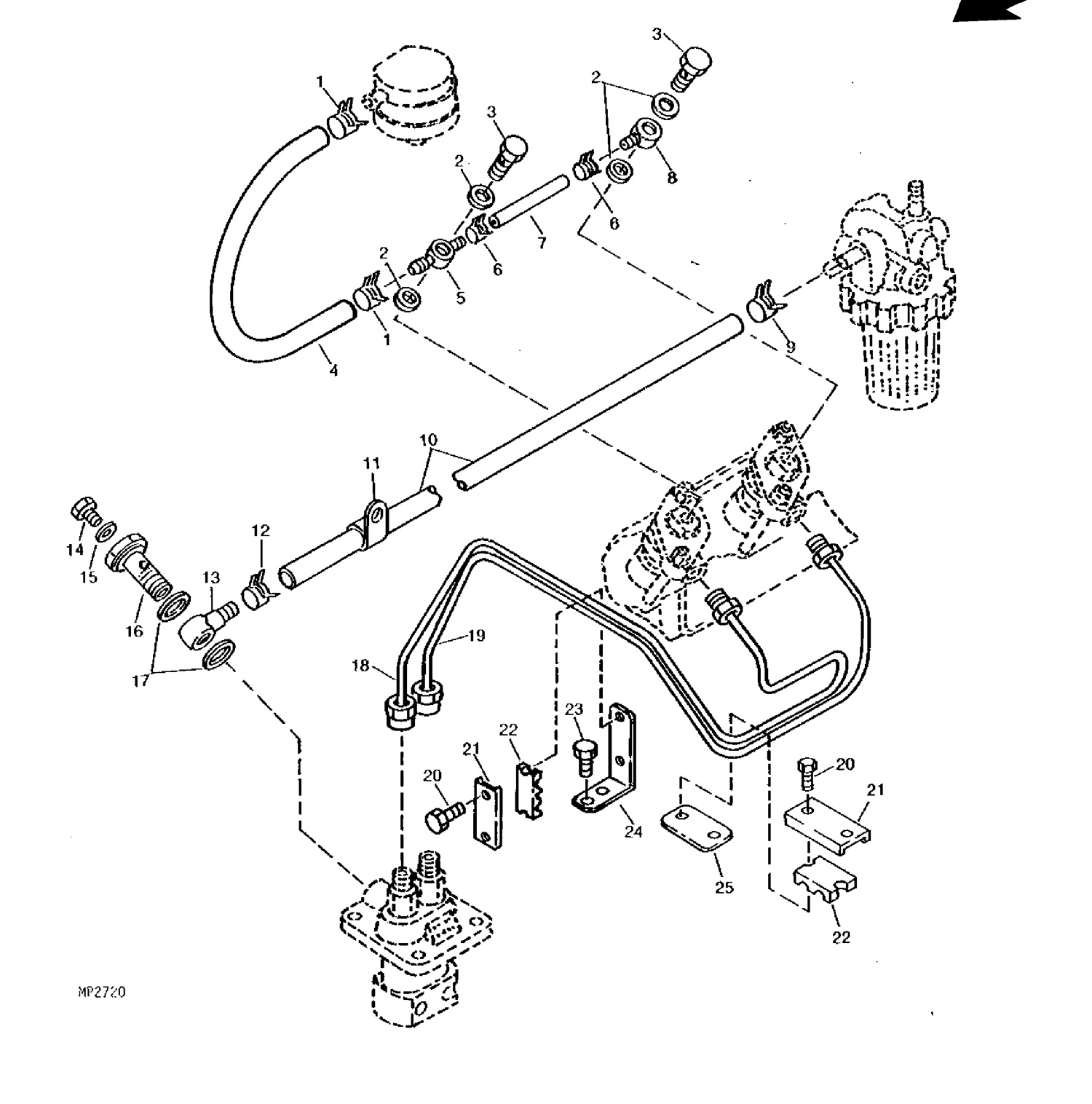 Injector Parts/fuel Filters/glow Plugs For John Deere Compact Tractors regarding John Deere Skid Steer Parts Diagram