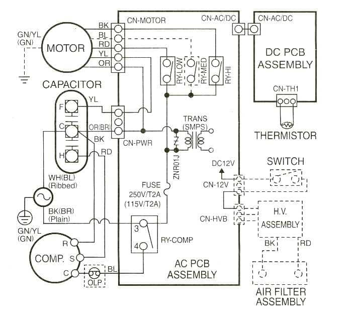 carrier air conditioner parts diagram