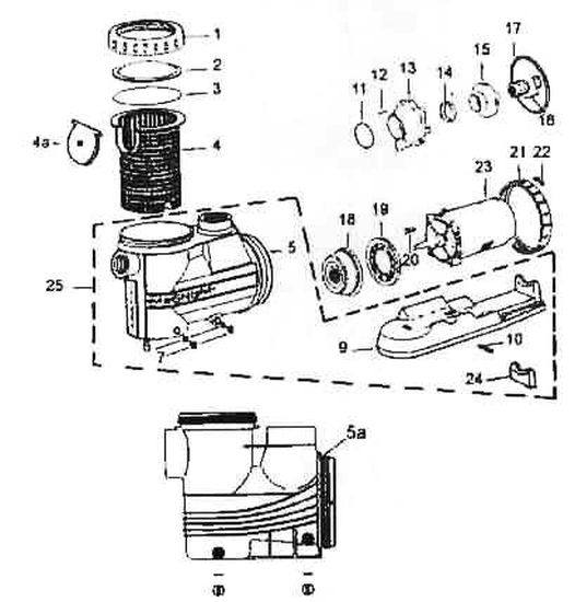 Jacuzzi Magnum Force Pool Pump Parts - Discount Parts For Jacuzzi inside Intex Pool Pump Parts Diagram