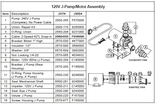Jacuzzi Spa Pump Wear Ring For J-Pump | The Spa Works with Jacuzzi Hot Tub Parts Diagram