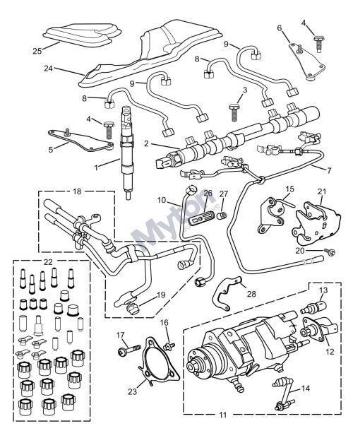Jaguar X-Type - Fuel Injectors And Pump-Diesel Diagram with regard to Jaguar X Type Parts Diagram